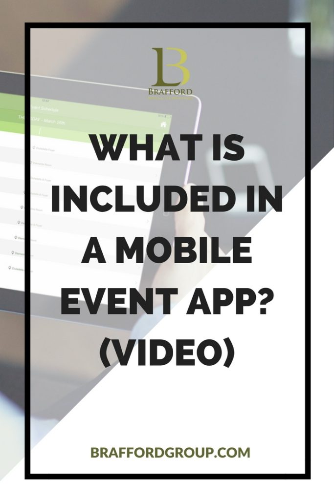 What is included in a mobile event app